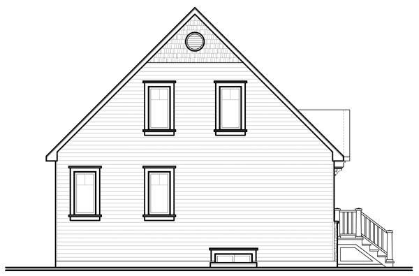 Country Craftsman Rear Elevation of Plan 76214