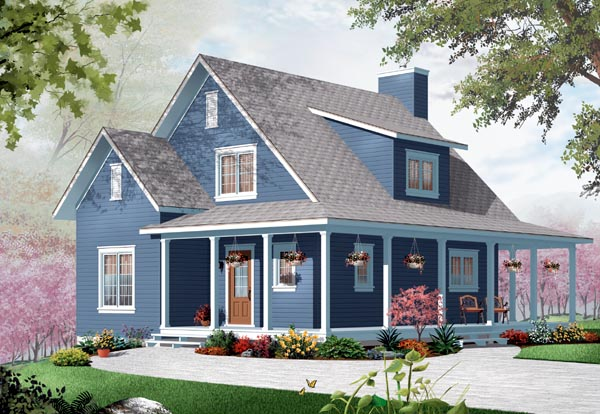 Country Traditional House Plan 76215 Elevation