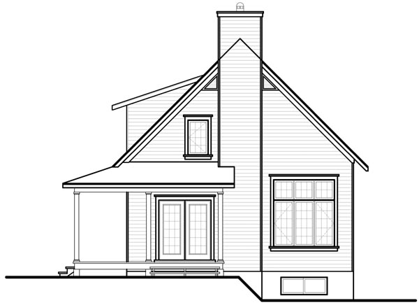 Country Traditional House Plan 76215 Rear Elevation