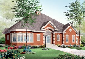 European House Plan 76217 Elevation