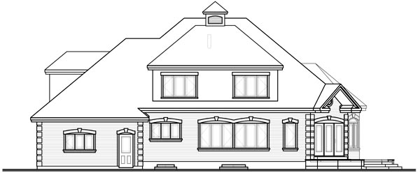 European House Plan 76217 Rear Elevation