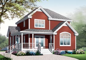 House Plan 76221 | Country Farmhouse Style Plan with 1621 Sq Ft, 3 Bedrooms, 2 Bathrooms Elevation