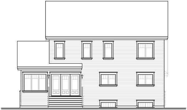 Craftsman House Plan 76223 Rear Elevation