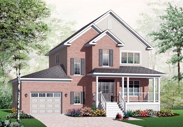 Country European House Plan 76224 Elevation