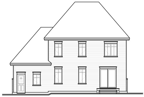 Country European House Plan 76225 Rear Elevation