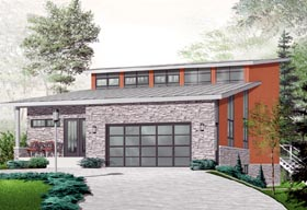 Contemporary Craftsman House Plan 76226 Elevation