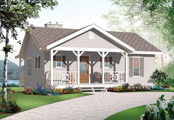 House Plan 76228 | Bungalow Country Style Plan with 1664 Sq Ft, 3 Bedrooms, 2 Bathrooms Elevation