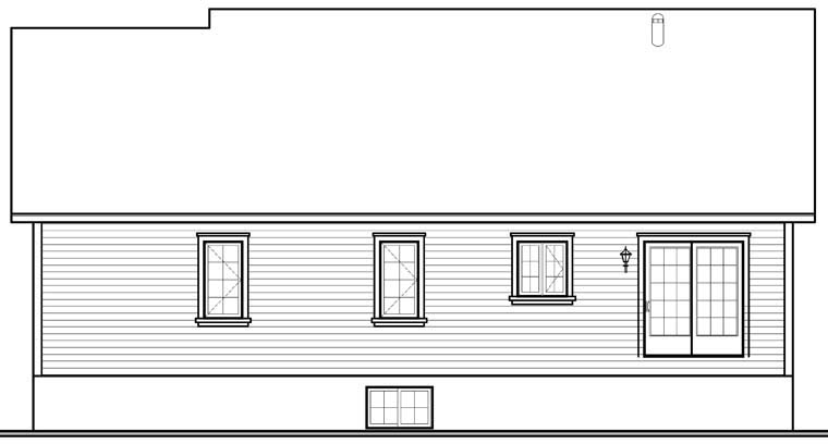 Cottage Traditional House Plan 76229 Rear Elevation