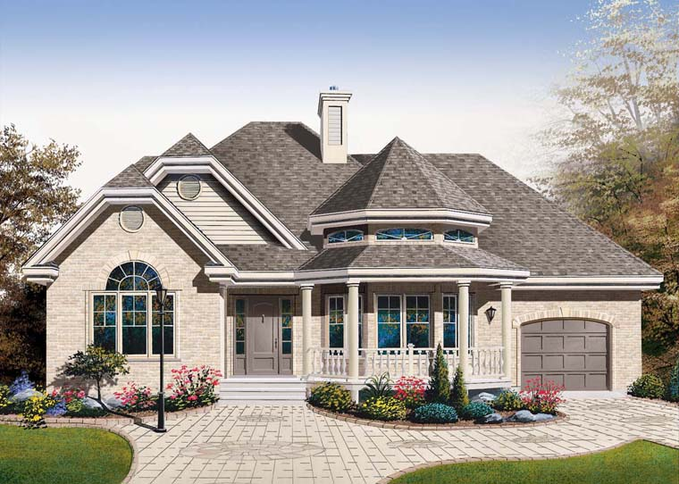 European House Plan 76230 Elevation