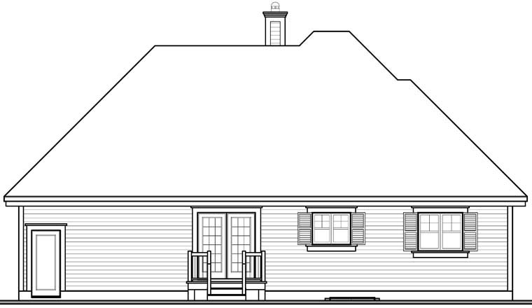 European House Plan 76230 Rear Elevation