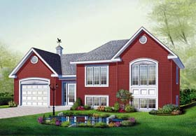 Traditional House Plan 76231 with 2 Beds, 1 Baths, 1 Car Garage Elevation