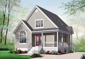 Cottage , Country , Traditional House Plan 76232 with 2 Beds, 2 Baths Elevation