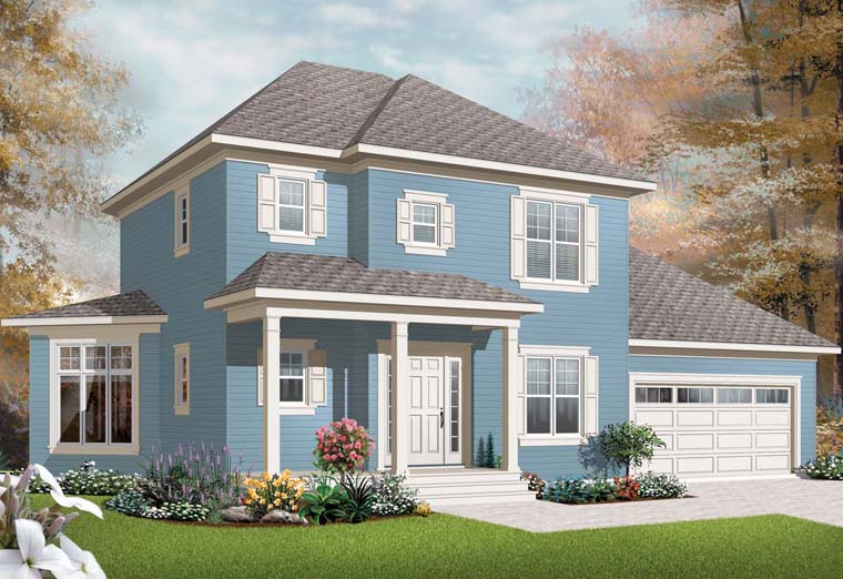 House Plan 76234 | Traditional Style Plan with 1662 Sq Ft, 3 Bedrooms, 2 Bathrooms, 2 Car Garage Elevation