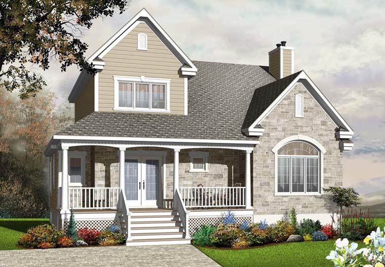 Cottage, Country, Traditional House Plan 76235 with 3 Beds, 3 Baths Elevation