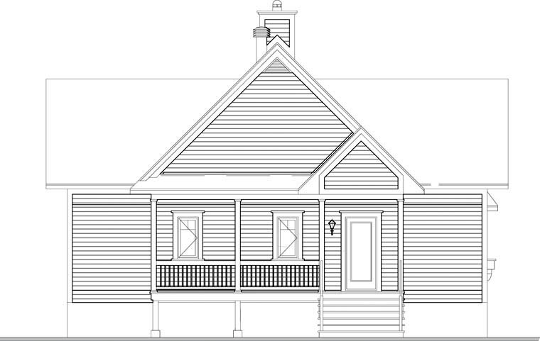 Coastal House Plan 76237 Rear Elevation