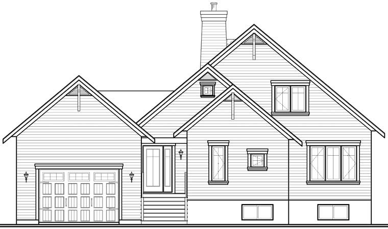 Coastal Country House Plan 76238 Rear Elevation