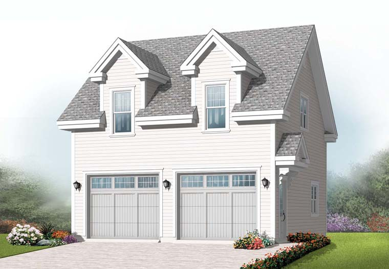 Traditional 2 Car Garage Apartment Plan 76239 Elevation