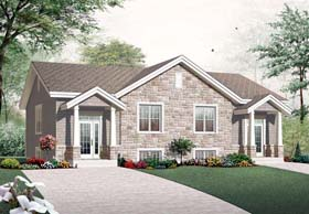 Traditional Multi-Family Plan 76243 with 6 Beds, 4 Baths Elevation