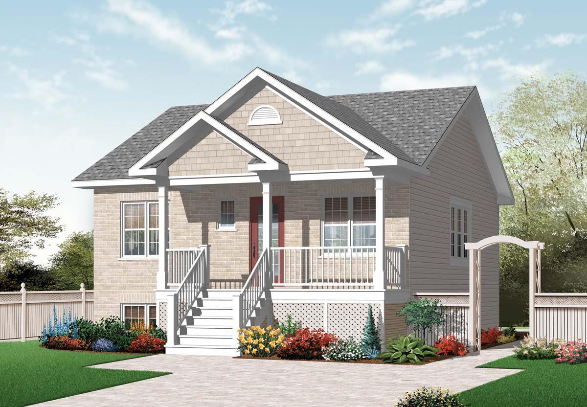 Дизайн крыльца одноэтажного дома.