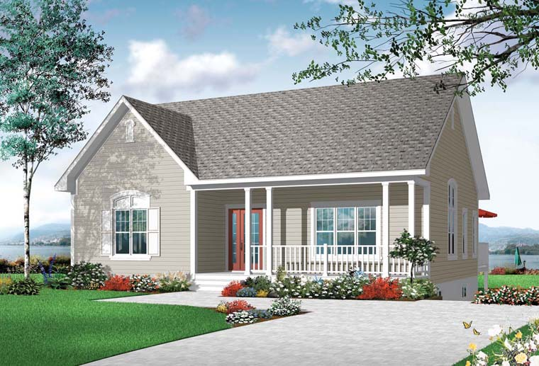 Cottage Country Traditional House Plan 76245 Elevation