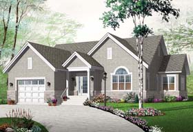 Country European Traditional House Plan 76250 Elevation