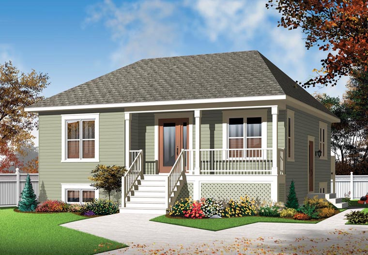 Country House Plan 76254 with 2 Beds, 1 Baths Elevation