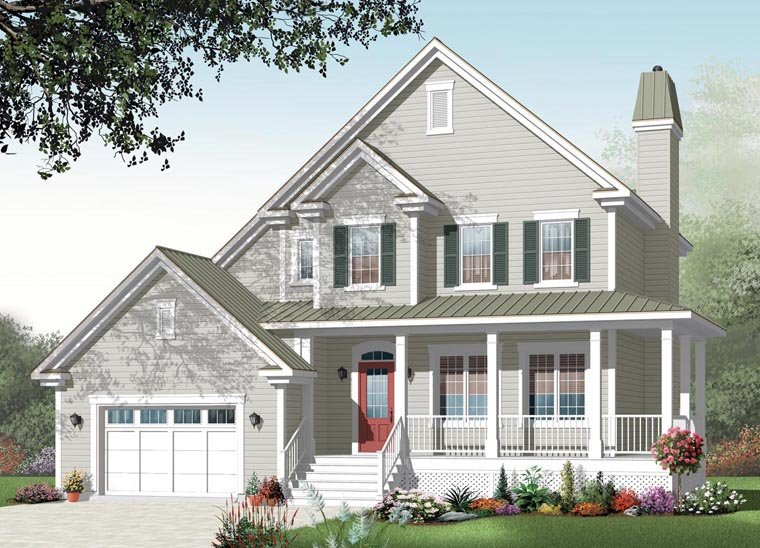 Country Traditional House Plan 76258 Elevation