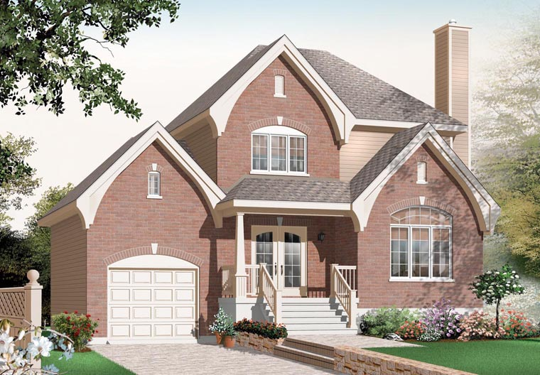 European Traditional House Plan 76259 Elevation