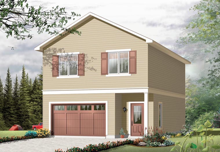 Garage plan 76270 at for How much to build a garage apartment