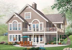 House Plan 76271 | Coastal Style Plan with 2920 Sq Ft, 5 Bedrooms, 3 Bathrooms Elevation