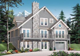 Coastal House Plan 76273 Elevation