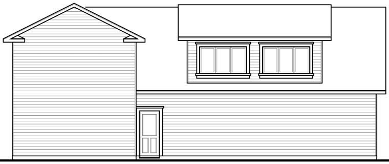 Traditional Garage Plan 76278 Rear Elevation