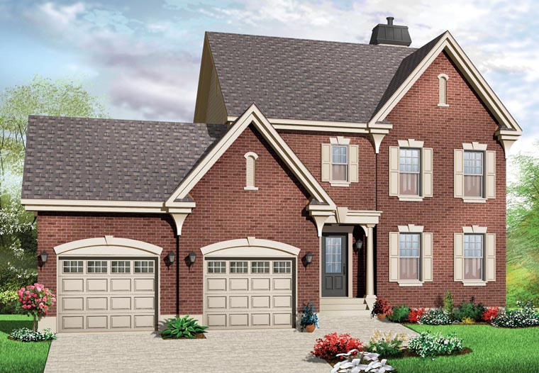 Colonial Traditional House Plan 76279 Elevation