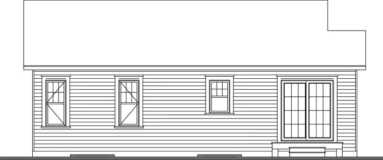 House Plan 76280 Rear Elevation