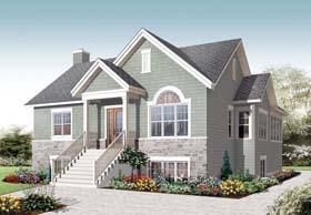 Cape Cod Craftsman House Plan 76281 Elevation