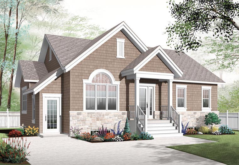 Cape Cod Craftsman House Plan 76282 Elevation