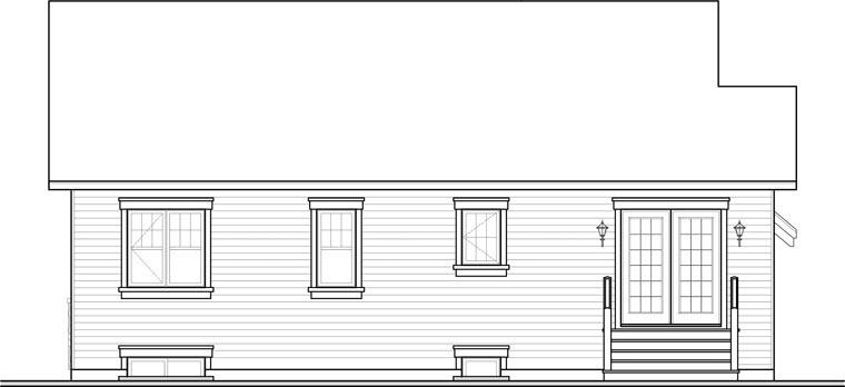 Cape Cod Craftsman House Plan 76282 Rear Elevation