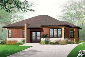 Contemporary House Plan 76284 Elevation