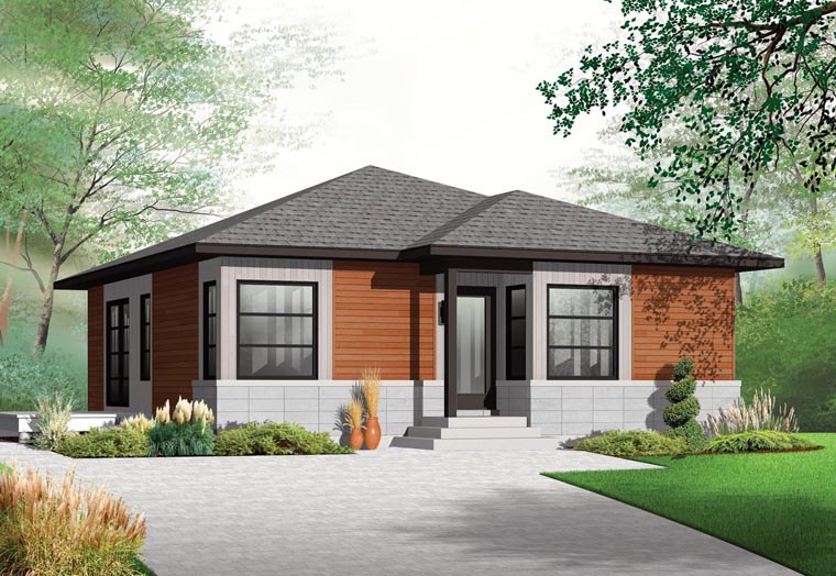 House Plan 76285 with 2 Beds, 1 Baths Elevation