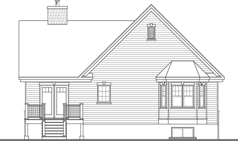 Country Craftsman House Plan 76286 Rear Elevation
