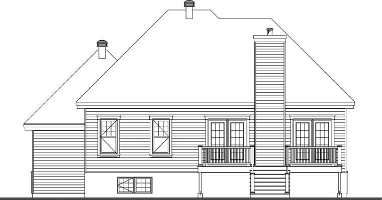 Country House Plan 76287 Rear Elevation