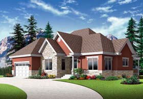 Cottage European House Plan 76288 Elevation