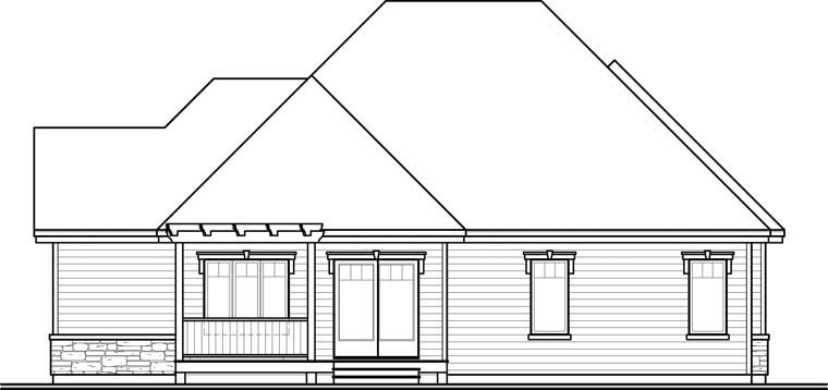 Cottage European House Plan 76288 Rear Elevation