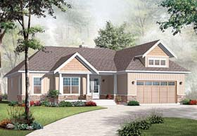 Country Craftsman House Plan 76289 Elevation