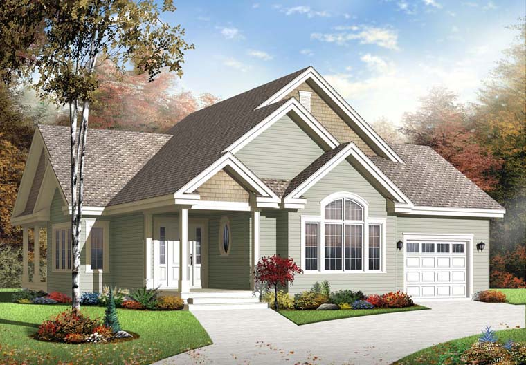 Country , Craftsman , Elevation of Plan 76290