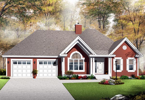Country House Plan 76294 with 2 Beds, 1 Baths, 2 Car Garage Picture 1