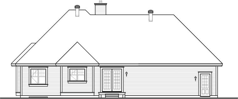Country House Plan 76294 Rear Elevation