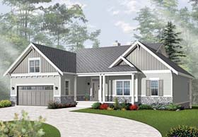 Country Craftsman House Plan 76295 Elevation