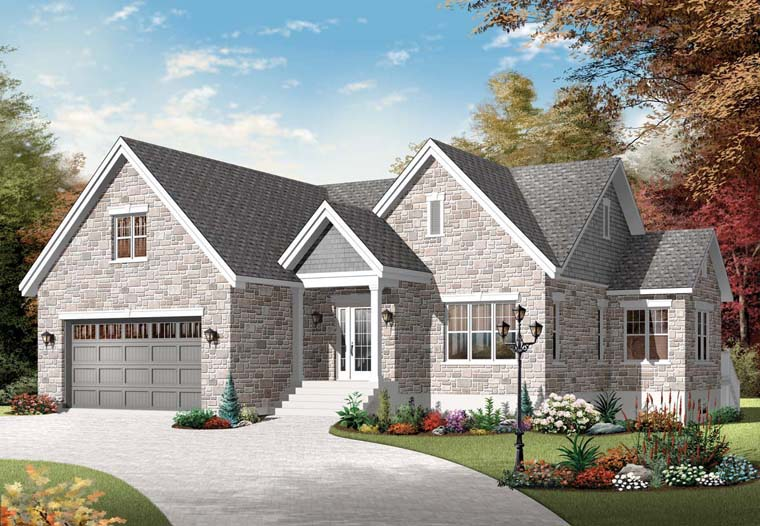 European House Plan 76296 Elevation