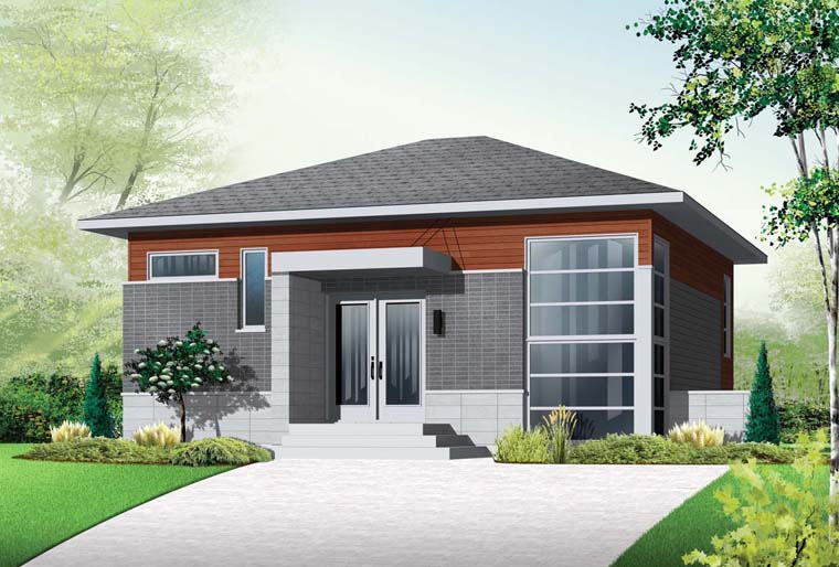 Contemporary Modern House Plan 76298 Elevation